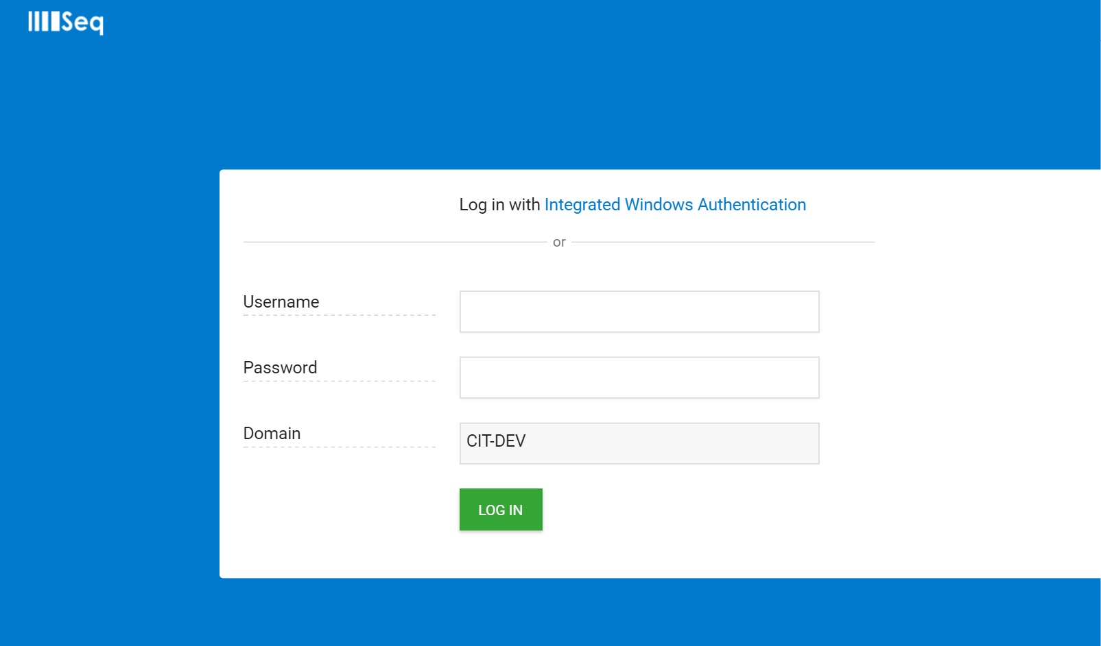 Integrated Windows Auth