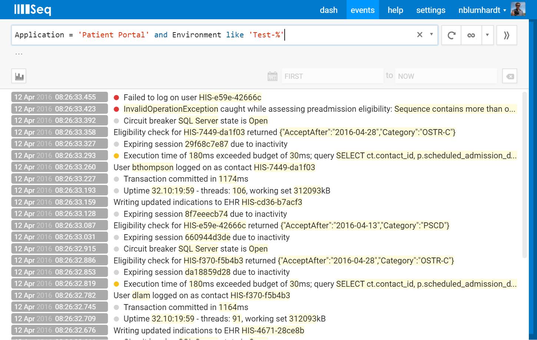 Seq SQL filters