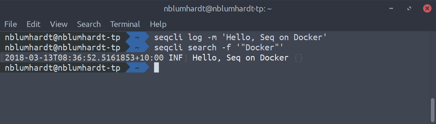 Hello, Seq on Docker